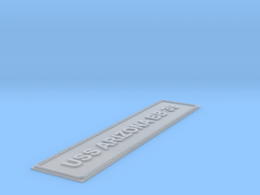 Nameplate USS Arizona BB-39 (5 inches) in Smoothest Fine Detail Plastic