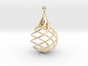 Pendant 1 - LR in 14k Gold Plated Brass