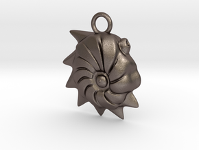 Cristellaria Ornament - Science Gift in Polished Bronzed-Silver Steel