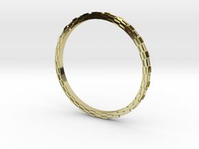 Hueco Mundo ring in 18k Gold Plated Brass