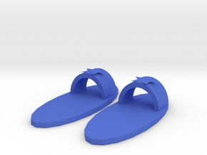Slippers in Blue Processed Versatile Plastic