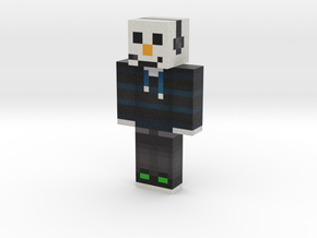 snowman porous | Minecraft toy in Natural Full Color Sandstone
