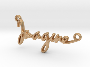 """Imagine"" a strong word, a universal song. in Natural Bronze"