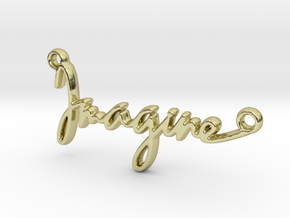 """Imagine"" a strong word, a universal song. in 18k Gold Plated Brass"