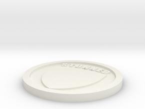 30mm Down / Stunned marker in White Natural Versatile Plastic