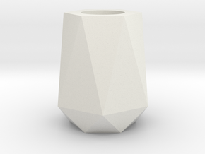 Modern Vase 01 in White Natural Versatile Plastic: Medium