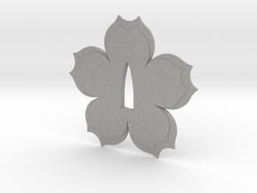 Tsuba sakura flower  in Aluminum