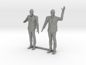 S Scale Bearded Man Shaking Hands - Waving in Gray PA12