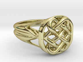 The Eternal Knot in 18k Gold Plated Brass: 6.5 / 52.75