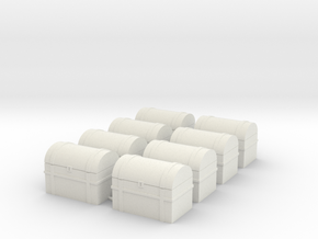 Chests(8 Ct) 28mm Scale in White Natural Versatile Plastic