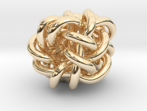 B&G Knot 018 in 14k Gold Plated Brass
