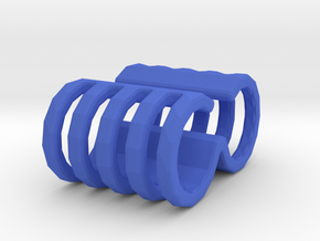 Cable Wrapper in Blue Processed Versatile Plastic