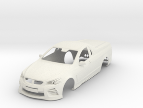 1:24 Holden VF HSV Maloo in White Natural Versatile Plastic