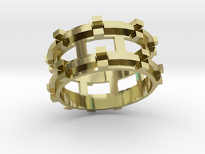 Runis ring in 18k Gold Plated Brass