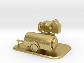 Baustellen-Set 1 Spur N Scale 1:160 in Natural Brass