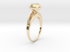 The Diamond in 14k Gold Plated Brass
