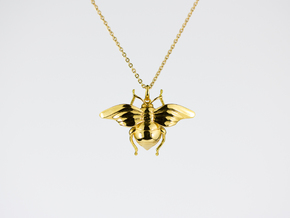 Bumblebee in 14k Gold Plated Brass