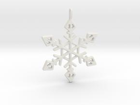 Winter Wonderland Pendant in White Premium Versatile Plastic
