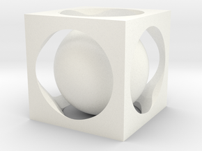 Ball in cube in White Processed Versatile Plastic