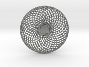 0163 Torus of Doubly Twisted Strips (n=32, d=15cm) in Gray Professional Plastic