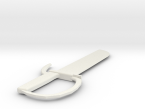 Wing Chun 8 Cut Butterfly Sword in White Natural Versatile Plastic
