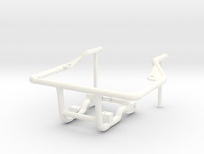 Sand Scorcher Rear Engine Cage in White Processed Versatile Plastic