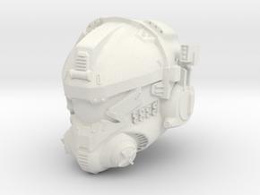 pilot helmet titanfall style in 1/6 scale in White Natural Versatile Plastic