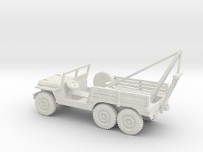 1/72 Scale 6x6 Jeep MT Wrecker in White Natural Versatile Plastic