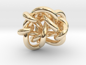 B&G tangle 03 in 14k Gold Plated Brass