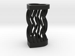 Spiral love pen holder in Black Natural Versatile Plastic: Small