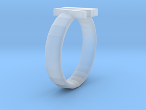 Roman numeral ring in Smooth Fine Detail Plastic: Extra Small