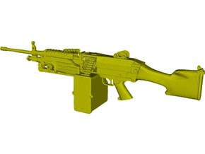 1/18 scale FN Fabrique Nationale M-249 Minimi x 1 in Smooth Fine Detail Plastic