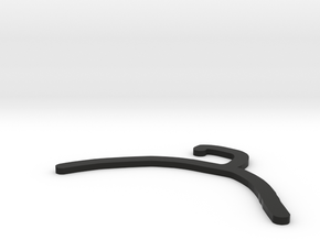 Hanger in Black Natural Versatile Plastic: Medium