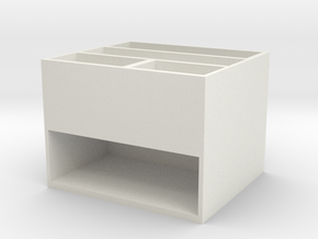 Stationery Storage Bucket in White Premium Versatile Plastic