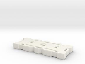 1Tenth Scale 4 Gallon fluid container in White Natural Versatile Plastic
