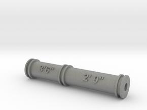 Nantlle Raiway Dual Gauge Roller Gauge 16mm Scale in Gray PA12