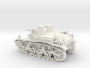 1/72 Scale M2A1 Light Tank in White Natural Versatile Plastic