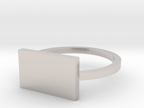 Rectangle 12.37mm in Rhodium Plated Brass