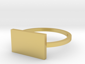 Rectangle 14.05mm in Polished Brass
