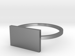 Rectangle 15.27mm in Polished Silver