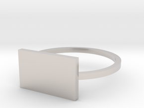 Rectangle 15.70mm in Rhodium Plated Brass