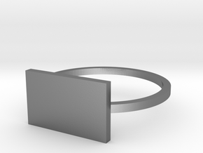 Rectangle 16.00mm in Polished Silver