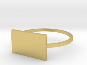 Rectangle 18.19mm in Polished Brass
