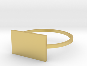 Rectangle 18.89mm in Polished Brass