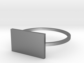 Rectangle 18.89mm in Polished Silver
