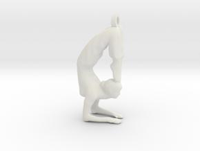 yoga jewelry - Vrischikasana in White Natural Versatile Plastic