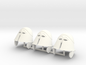 TRIARII HELMET 3 x3  in White Processed Versatile Plastic