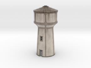 C-Nus02 - Water tower in Matte Full Color Sandstone