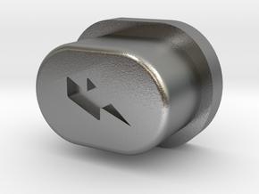 Y_Mod V1.0 Engraved Button Only (OG) in Natural Silver