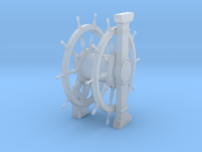 1/100 Wheel and Pedestal for Ships-of-the-Line in Smoothest Fine Detail Plastic